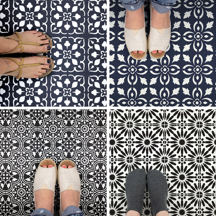 How to stencil Floor Tiles