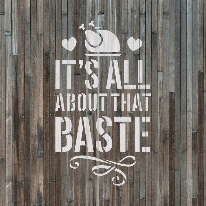 All About That Baste Thanksgiving Turkey Stencil