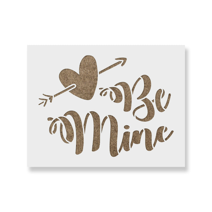 Be Mine Valentines Stencil