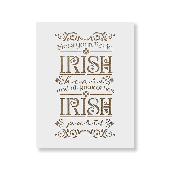 Bless Your Irish Heart Sign Stencil