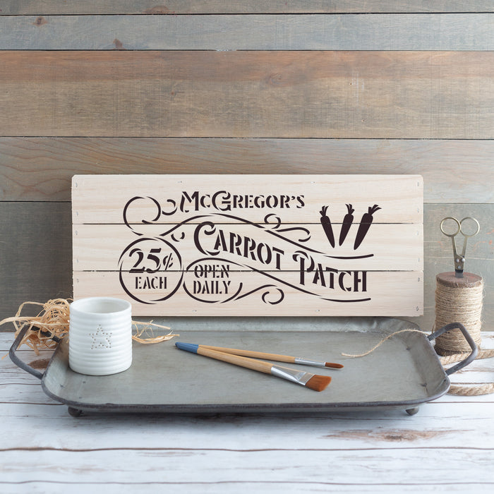 Carrot Patch Farmhouse Sign Stencil