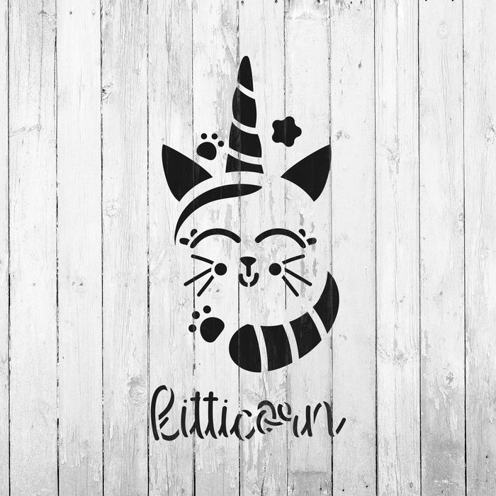 Cat Unicorn Stencil