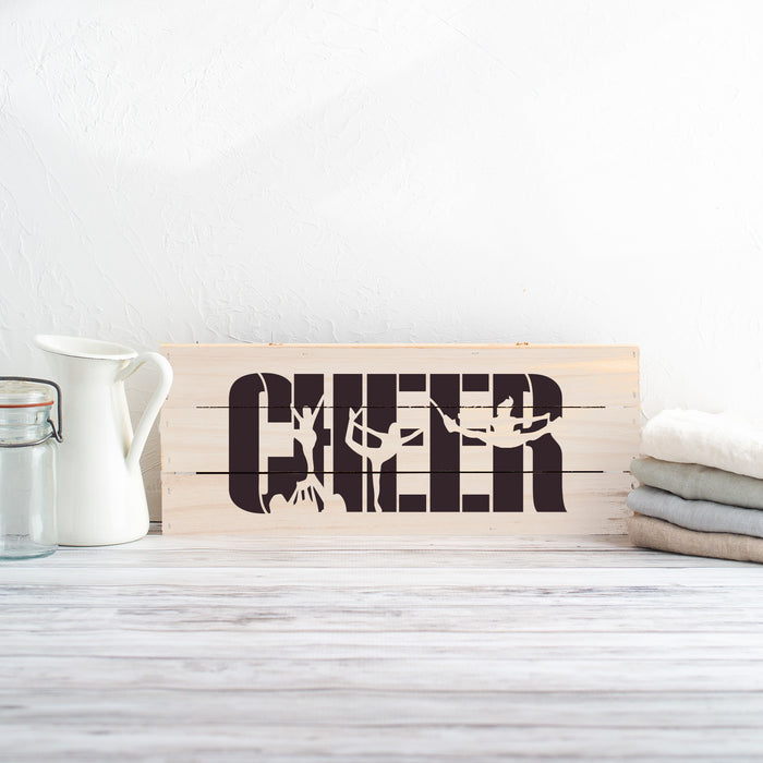 Cheer Cheerleader Stencil