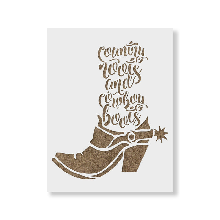 Country Roots Stencil