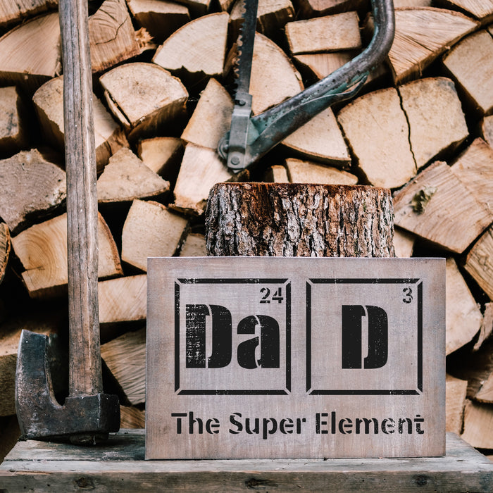 Dad Element Science Stencil