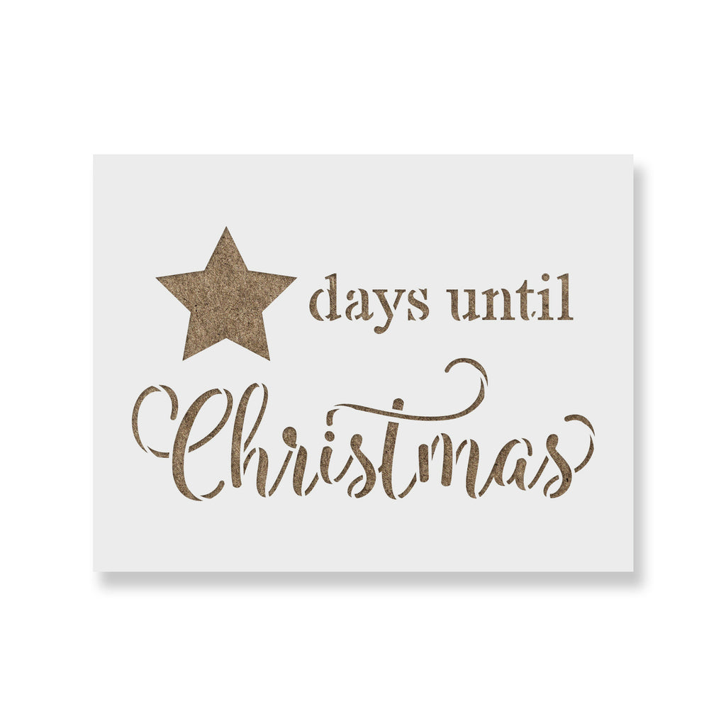 Days Until Christmas.Days Until Christmas Star Stencil