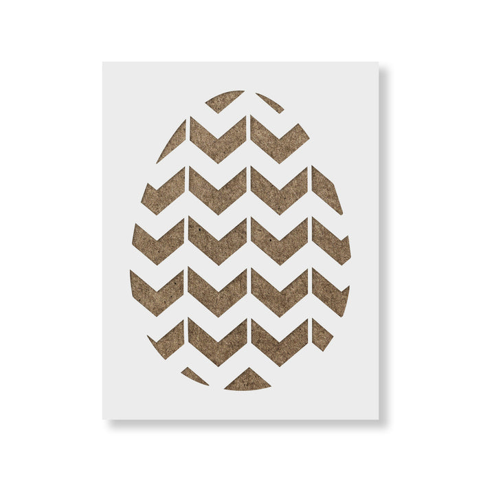 Easter Egg Chevron Stencil
