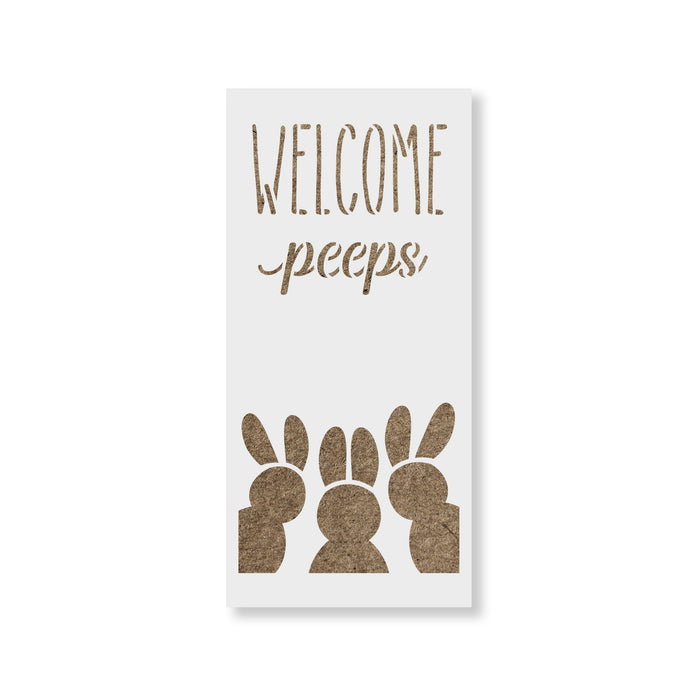 Easter Welcome Peeps Stencil