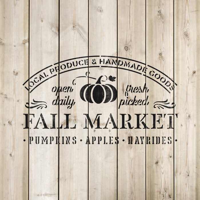 Fall Market Sign Stencil