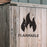 Flammable Symbol Stencil
