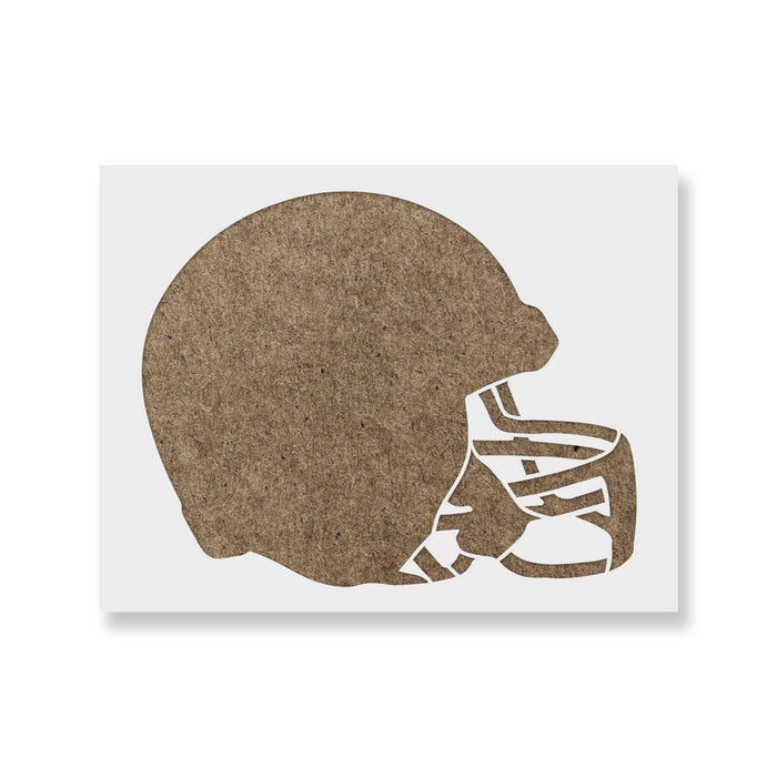 Football Helmet Stencil