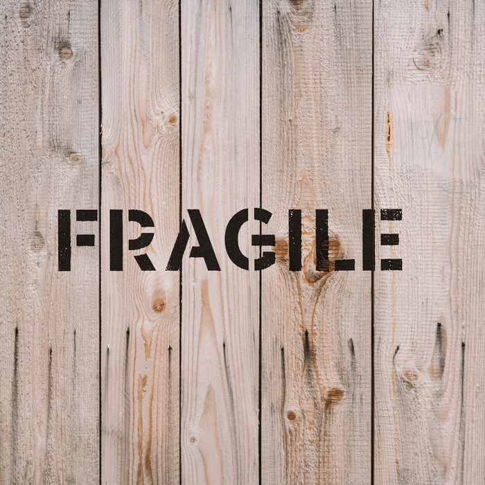 Fragile Word Stencil