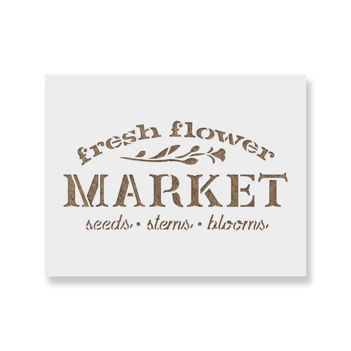 Fresh Flower Market Sign Stencil