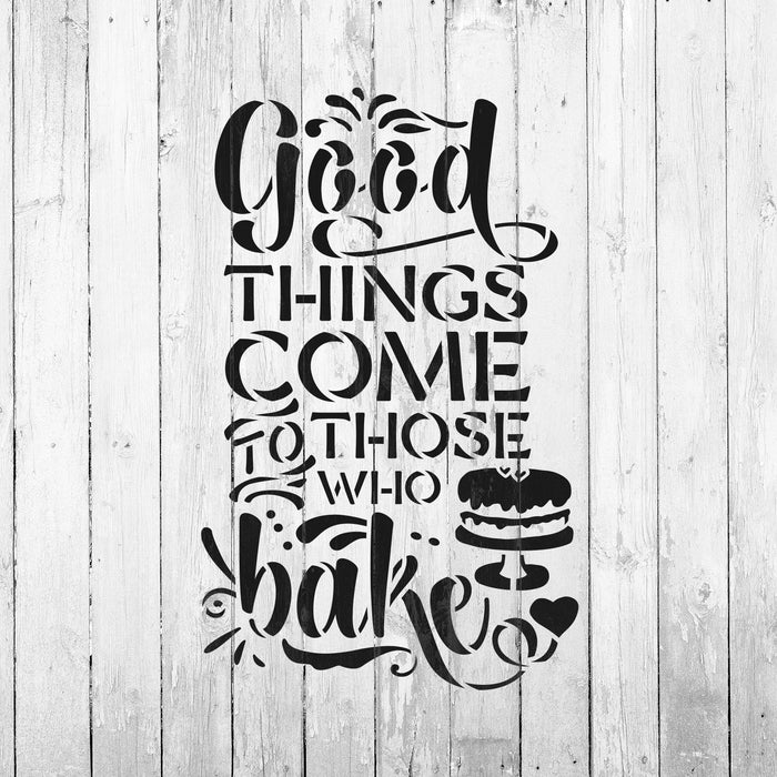 Good Things Baking Cooking Kitchen Stencil