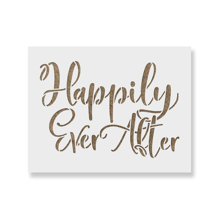 Happily Ever After Stencil