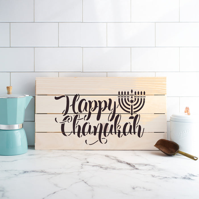 Happy Chanukah Stencil
