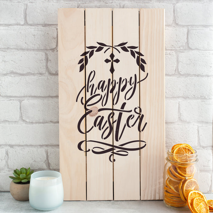 Happy Easter Cross Stencil