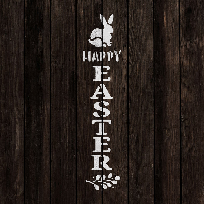 Happy Easter Vertical Sign Stencil