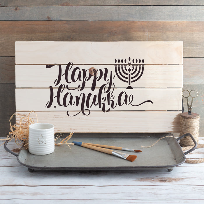 Happy Hanukka Stencil