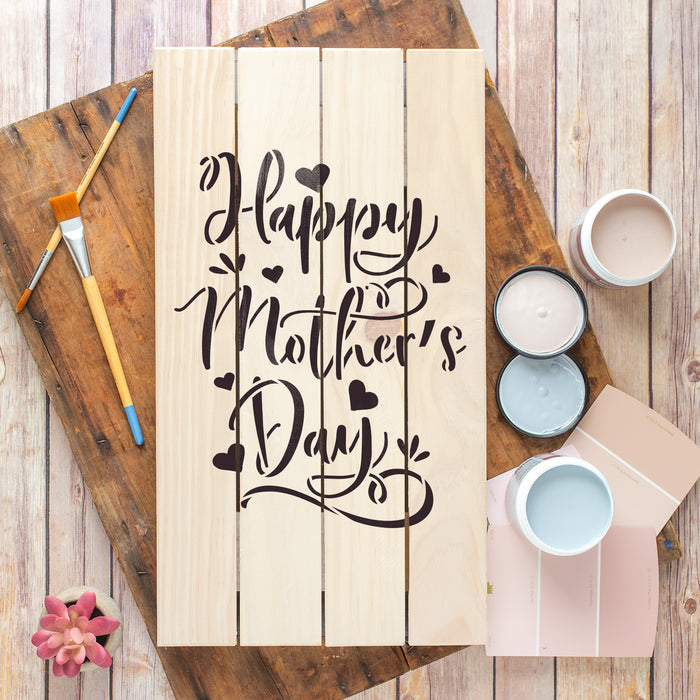 Happy Mothers Day Stencil