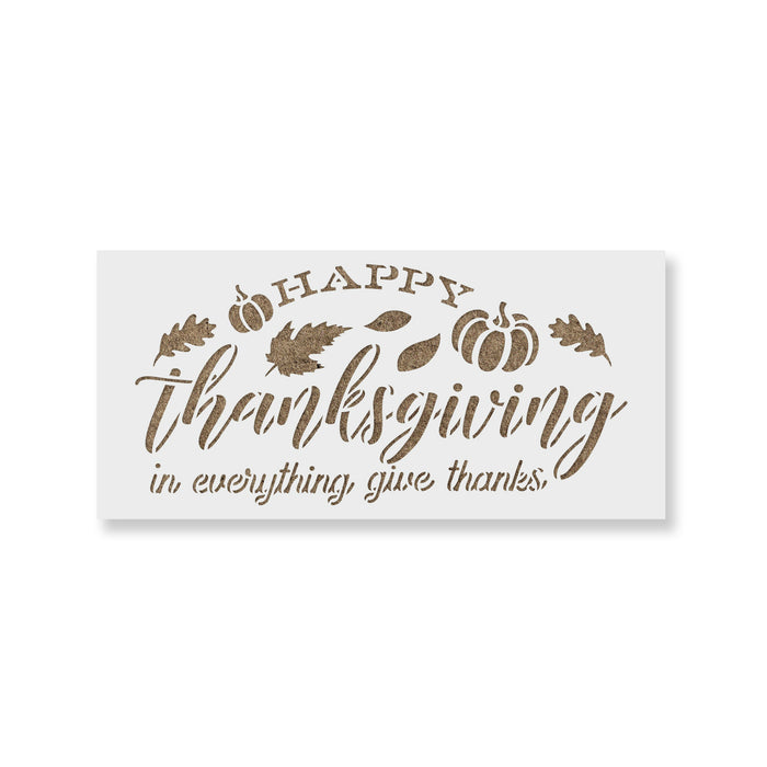 Happy Thanksgiving Give Thanks Stencil