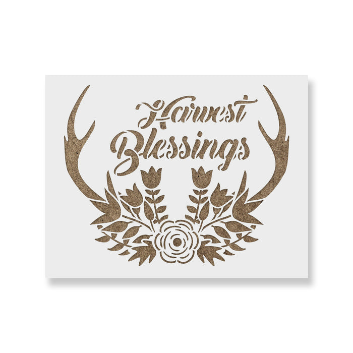 Harvest Blessings Antlers Stencil Stencil Revolution