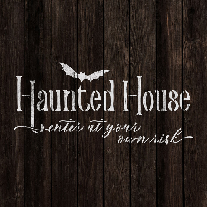 Haunted House Sign Stencil