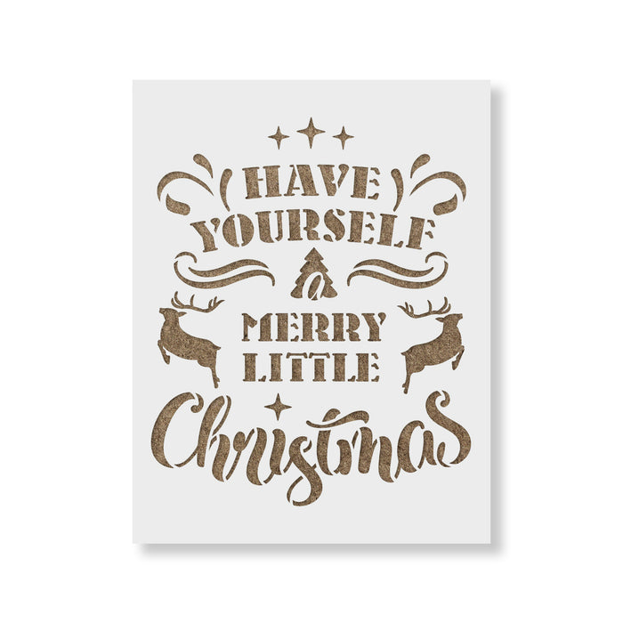 Have Yourself a Merry Christmas Stencil