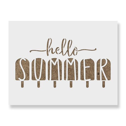 Hello Summer Popsicles Stencil