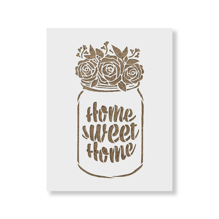 Home Sweet Home Mason Jar Stencil