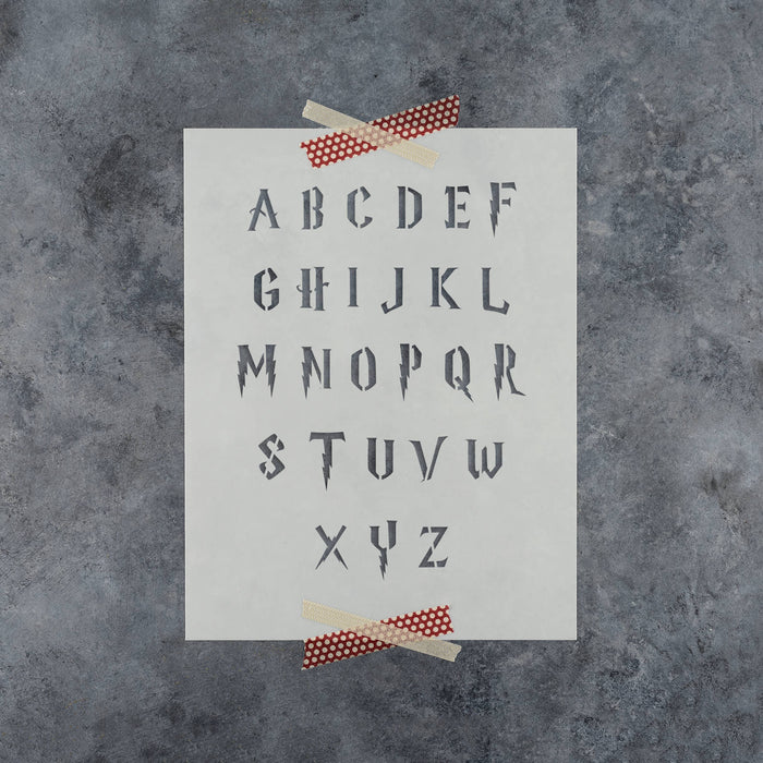 Harry Potter Letter Stencil Set