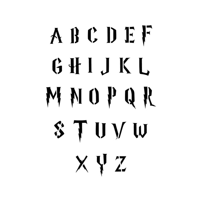 Harry Potter Letter Stencil Set, Large & small size stencils
