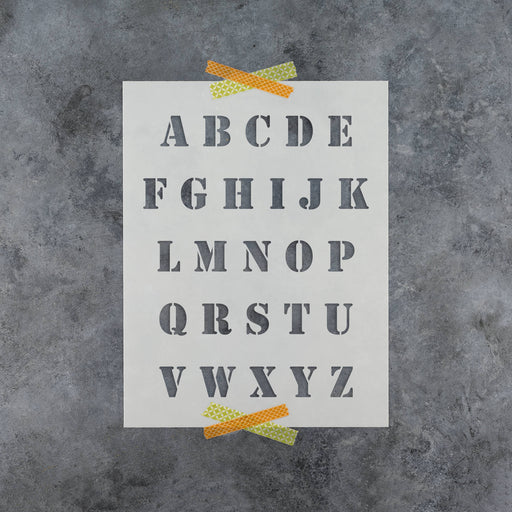 image relating to Roman Numeral Stencils Printable identified as Letter Stencils Reusable Selection Stencils - Alphabet