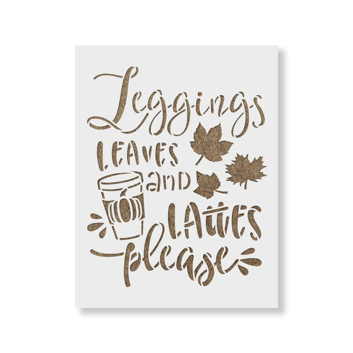 Leggings And Lattes Stencil