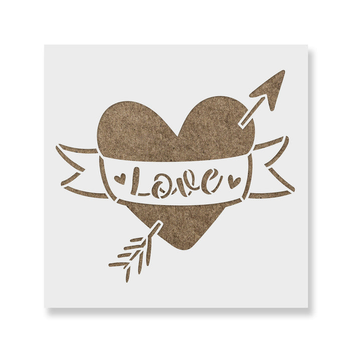 Love Arrow Valentines Heart Stencil