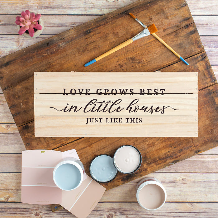 Love Grows In Little Houses Decor Sign Stencil