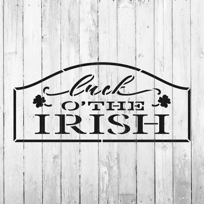 Luck O The Irish Sign Stencil