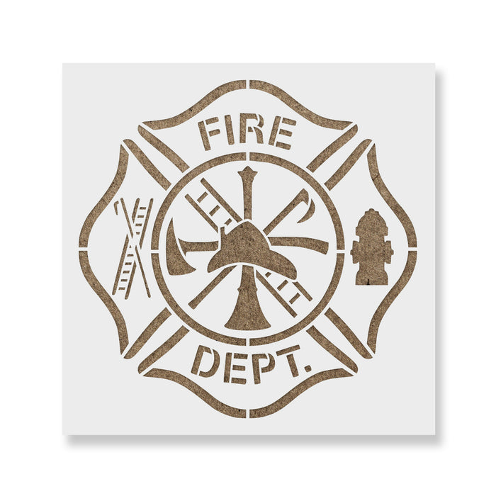 Maltese Cross Fire Department Stencil