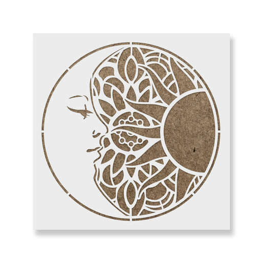 Mandala Sun and Moon Stencil