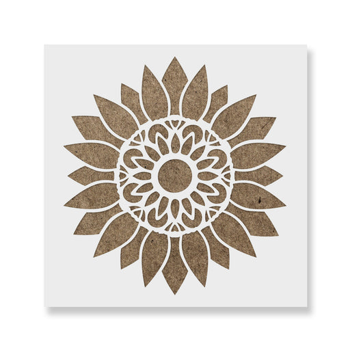 Mandala Sunflower Stencil