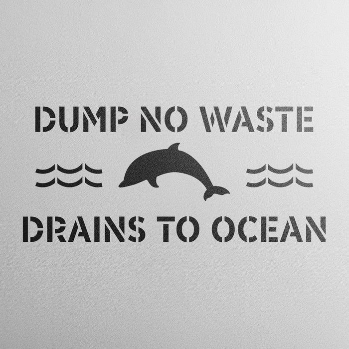 No Dumping Drains to Ocean Stencil