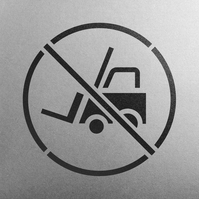 No Forklift Traffic Symbol Stencil