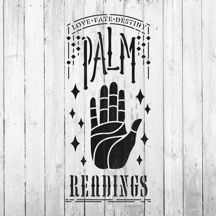 Palm Readings Stencil