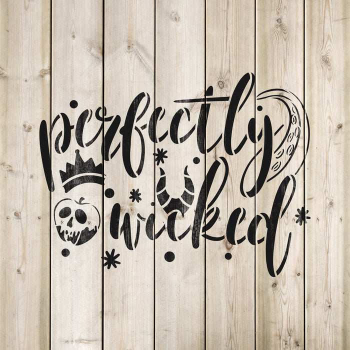 Perfectly Wicked Halloween Stencil