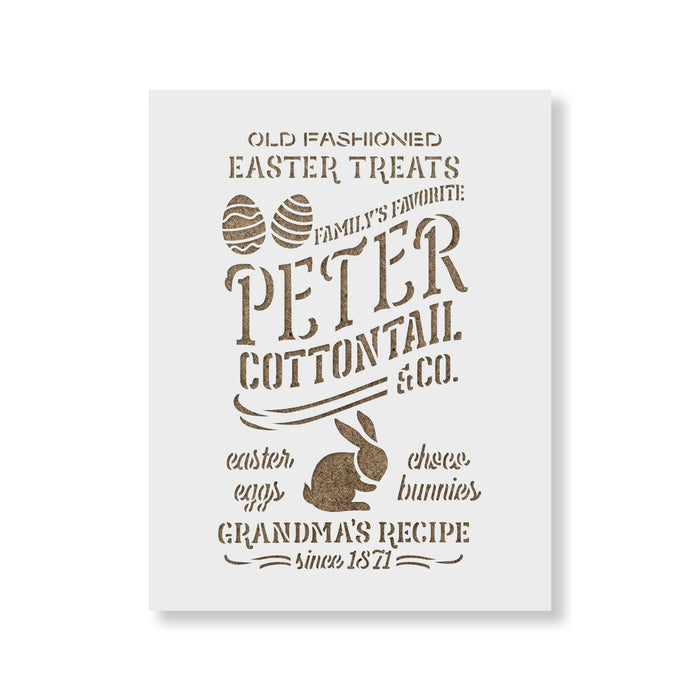 Peter Cottontail And Co Sign Stencil