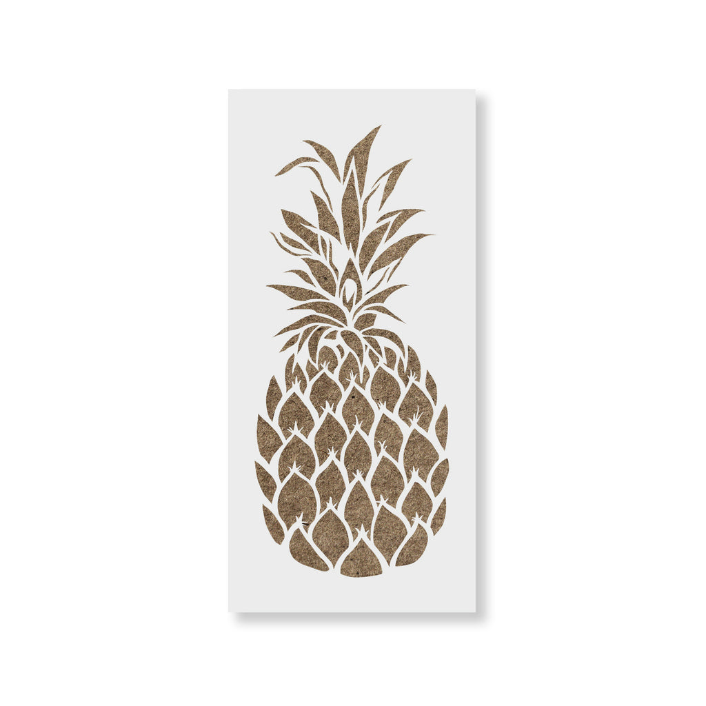 This is an image of Adaptable Pineapple Stencil Printable
