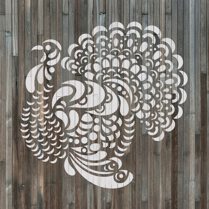 Popup Thanksgiving Turkey Stencil