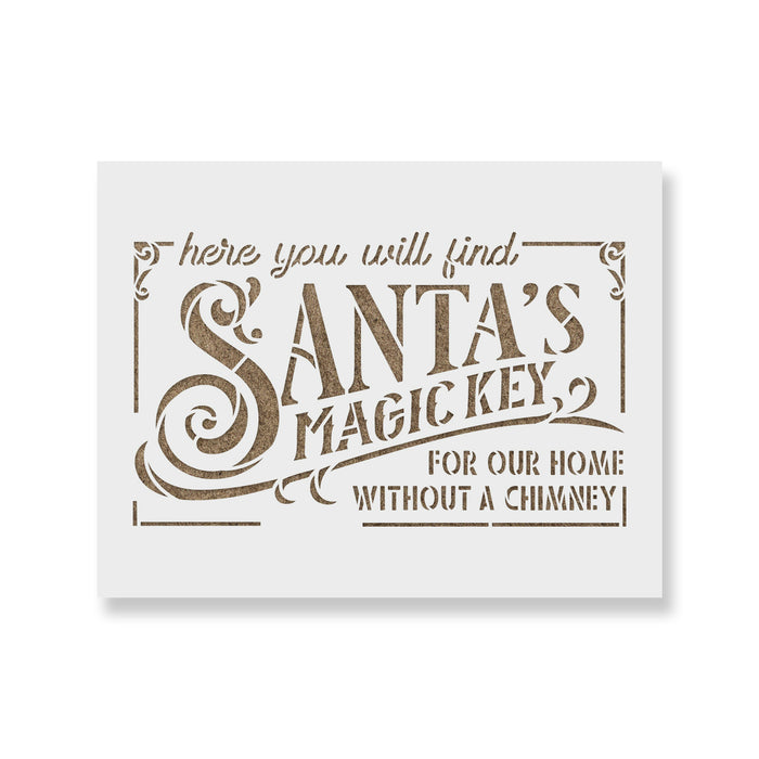 Santa's Magic Key Stencil