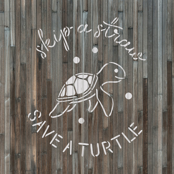 Save Sea Turtles Stencil
