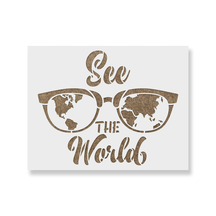 See The World Map Stencil